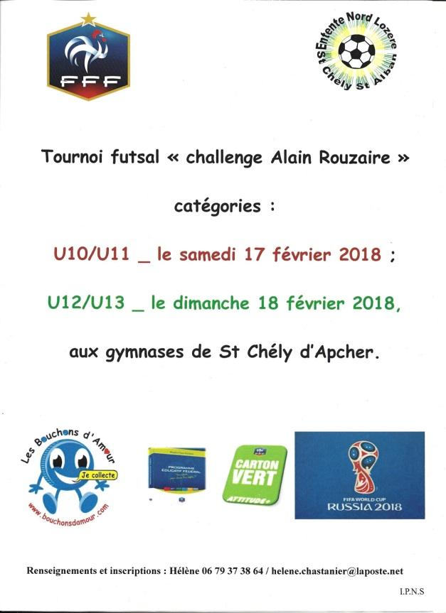 Affiche Tournoi futsal ENL 2018