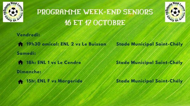programme wk 16 et 17 octobre